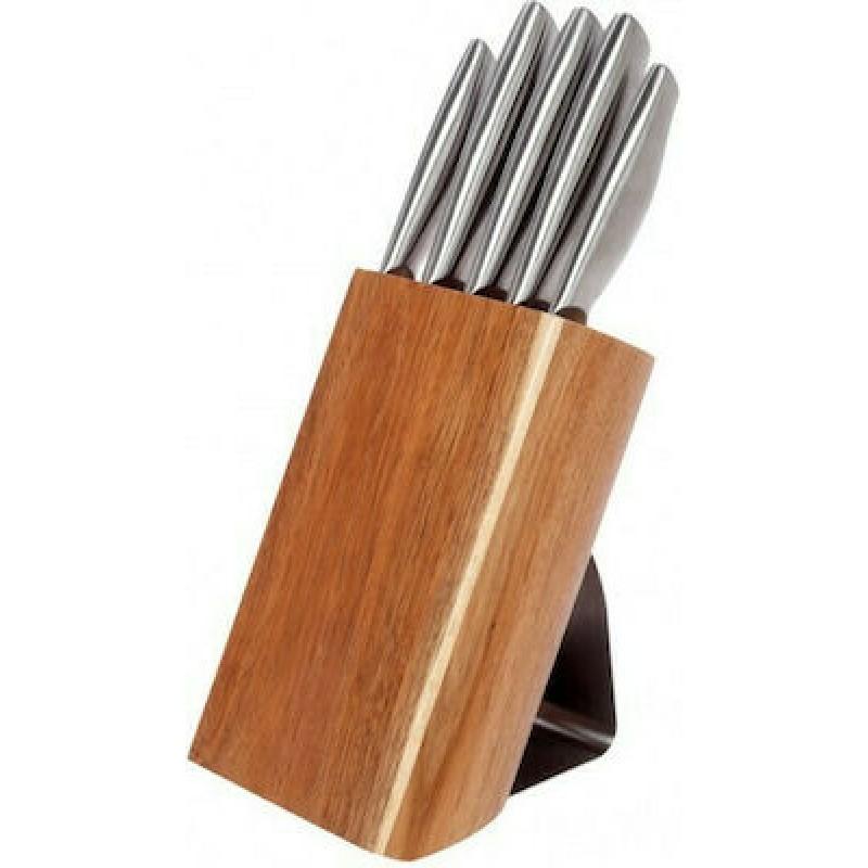Μαχαίρια Σετ με βάση ξύλινη